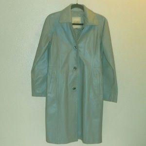 Genuine Leather walking coat